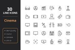 Linje symboler för 30 bio Arkivfoto