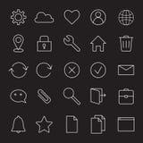 Linje symboler för grundläggande manöverenhet royaltyfri illustrationer