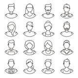 Linje symboler folk vektor illustrationer