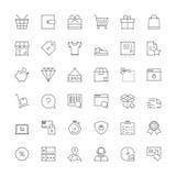 Linje symboler shopping Arkivfoto