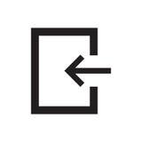 Linje symbolsingång Fotografering för Bildbyråer