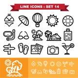 Linje symbolsuppsättning 14 vektor illustrationer