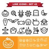 Linje symbolsuppsättning 41 Royaltyfri Bild