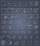 Linje symbolsuppsättning Royaltyfri Fotografi