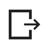 Linje symbolsutgång Arkivfoton
