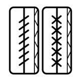 Linje symbolsvektor för sömnadvisare stock illustrationer