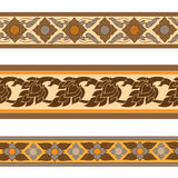 Linje thai design arkivbild