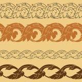 Linje thai design Royaltyfri Bild