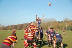 linje ut rugby Royaltyfri Foto