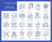 Linje vektorsymboler i en modern stil Arkivfoton