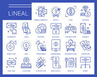 Linje vektorsymboler i en modern stil Arkivbilder
