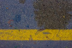 linje yellow Arkivfoton