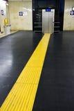 linje yellow Royaltyfri Fotografi