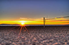 Linjen är lättare att se på solnedgången royaltyfria bilder