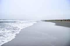 Linjen av havet royaltyfria bilder