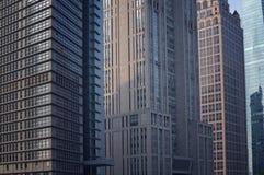 Linjen av skyskrapor Royaltyfria Foton