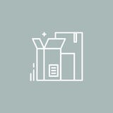 Linjen boxas logo Arkivbilder