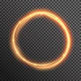 Linjen för vågen för spiralen för vektorbrandgnistrandet med flygbrusandeexponeringen tänder Arkivbilder