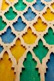 linjen i Marocko africa den gamla tegelplattan colorated keramisk abstrac för golvet Arkivfoto