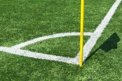 Linjer av fotbollhörnet Royaltyfria Foton