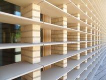 Linjer av modern byggnad i Vaduz royaltyfri foto