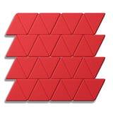 Linjer av röda trianglar på vit bakgrund Royaltyfria Foton