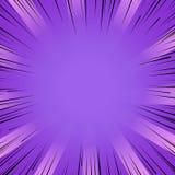 Linjer bakgrund för purpurfärgad explosion för Manga humorbokexponering radiella vektor illustrationer