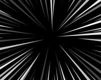 Linjer bakgrund för stil för konst för pop för humorbokexplosionsuperhero svartvita radiella Manga eller animehastighetsram stock illustrationer