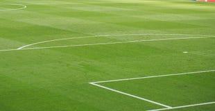 Linjer detaljer för fotbollstadion Arkivfoton