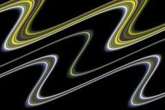 linjer Färgrik fluid purpurfärgad skämtsam bakgrund för grön guld Royaltyfri Foto