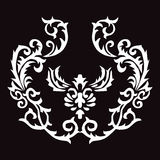 Linjer för pil för modelltatueringflamma flätade abstrakt begrepp royaltyfri bild