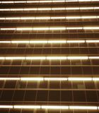 Linjer för stadsneonljus arkivbild