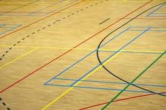 Linjer i en idrottshall Royaltyfria Foton