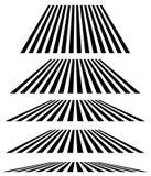 Linjer i olik nivå av perspektivet 3d band, linjer eleme vektor illustrationer