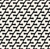 Linjer modell för svart för vektor sömlösa vita diagonala rundade & Arkivfoton