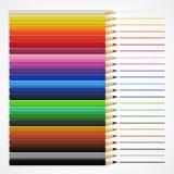 Linjer och färgpennor Royaltyfria Foton
