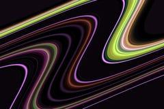 linjer Orange linjer för färgrika fluid guld- gräsplanblått, skämtsam bakgrund Royaltyfri Bild