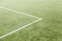 Linjer på ett fotbollfält Royaltyfri Fotografi
