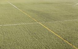Linjer på fotboll/det Futsal fältet Royaltyfri Fotografi