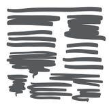 Linjer räcker den utdragna designbeståndsdelvektorn Arkivbilder