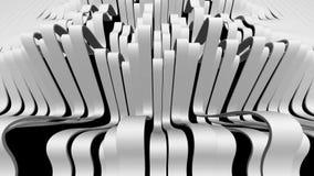 Linjer våganimering 3d isolerade den framförda videopd vita världen royaltyfri illustrationer
