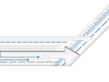 linjer v för 1 pilar Arkivbilder