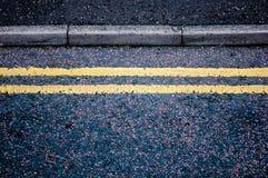 linjer yellow Arkivfoto