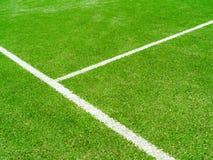 Linjerna skär av tennisbanan Fotografering för Bildbyråer