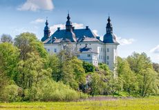 Ekenäs castle during spring in Sweden. Linköping, Sweden - May 16, 2009: Ekenäs castle in the countryside outside Linköping during spring in Sweden royalty free stock photo
