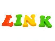 Link. Follow the link to our sponsors Stock Image