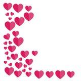 Link-ausgerichtete Herzen Rote Rose Auch im corel abgehobenen Betrag frei Stockfoto