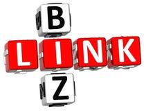 Link Biz Crossword Stock Photo