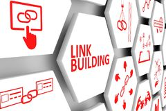 LINK BUILDING concept Stock Image