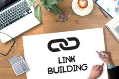 LINK BUILDING Royalty Free Stock Images